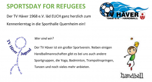 SPORTSDAY FOR REFUGEES